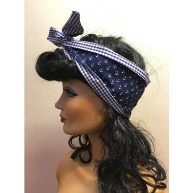 Hairband Anchor/Blue