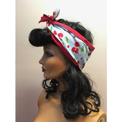 Hairband Blue/Red Cherry