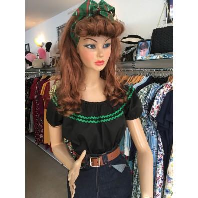 Rosita Top Black Green