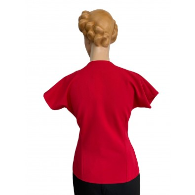 Joan 1940s Top Red