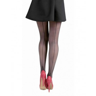 Jive Seamed Tights Black & Black