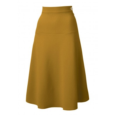 1940s Swing Skirt Gold