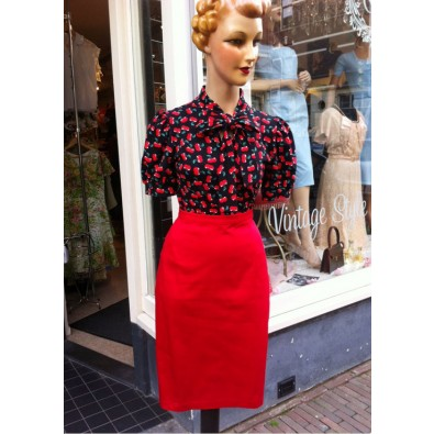 Bettie Red Pencil Skirt