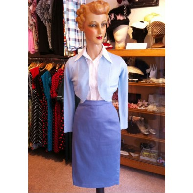 Bettie Blue Pencil Skirt