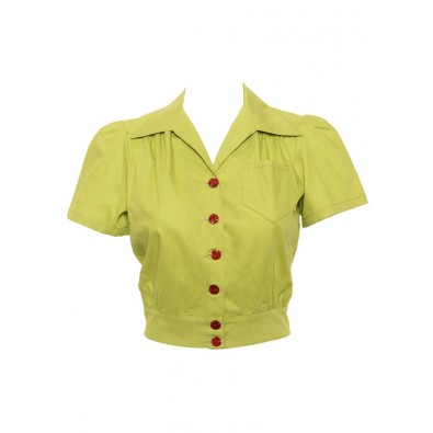 Lime Work Blouse