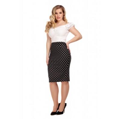 Polly Polka Dot Pencil Skirt