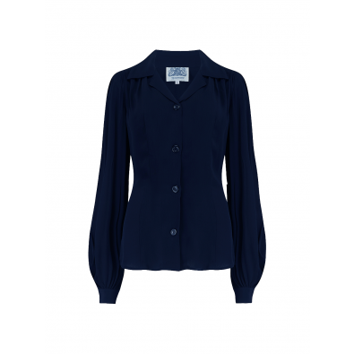 Poppy Blouse Navy
