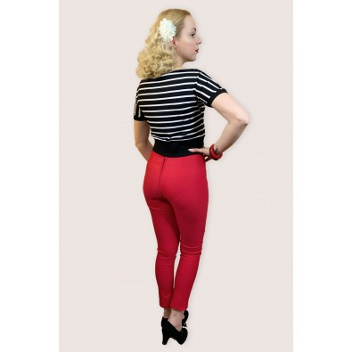 Sandy 1950s Cigarette Pants Red