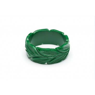 Wide Forest Heavy Carve Duchess Bangle
