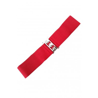 Vintage Stretch Belt Red
