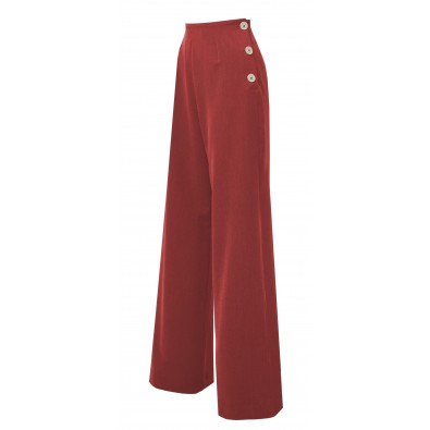 1940s Swing Pants Red