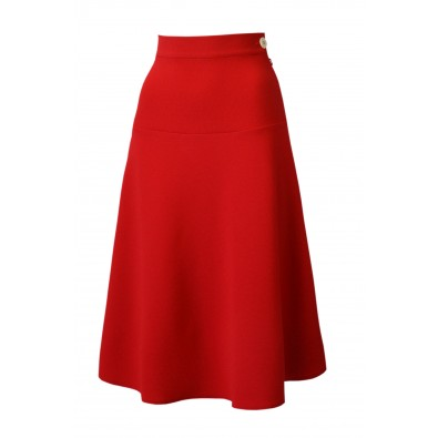 1940s Swing Skirt Red