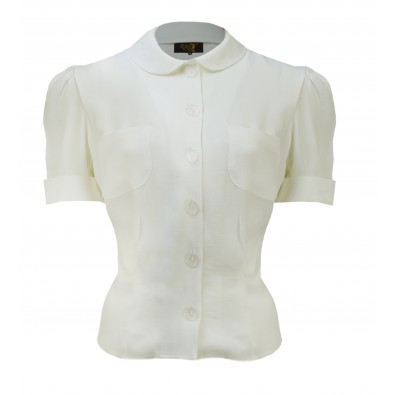 1930s Wallis Blouse Ivory