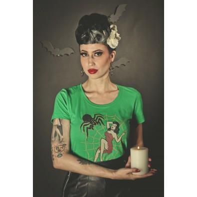 Web of Lies T-shirt Kelly Green